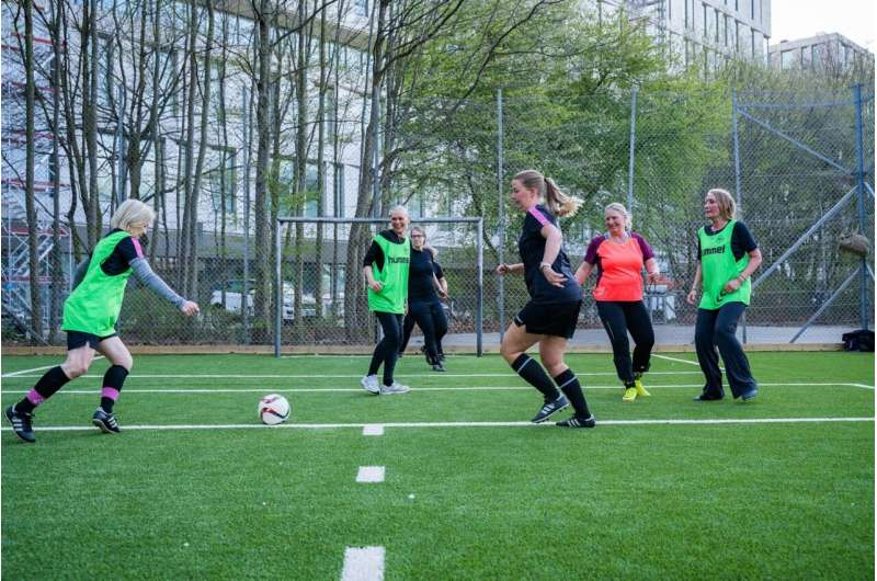 Football Fitness gives an important boost to health in women treated for breast cancer