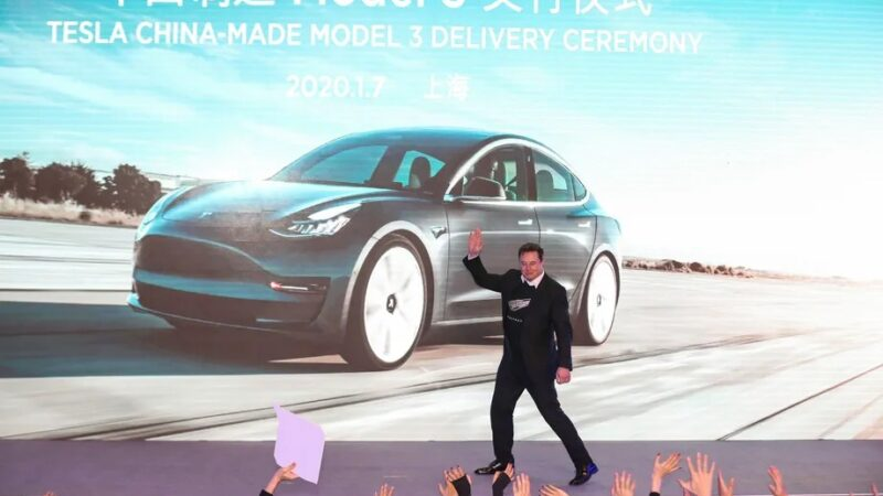 Woman detained for protesting Tesla at Shanghai auto show